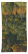 Water Reflections Abstract Autumn 2 A Beach Towel