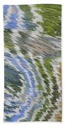 Water Ripples In Blue And Green Beach Towel