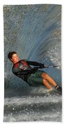 Water Skiing Magic Of Water 13 Beach Towel by Bob Christopher