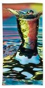Water Splash Art Beach Towel