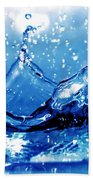 Water Splash Beach Towel by Michal Bednarek
