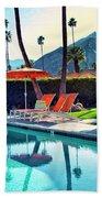 Water Waiting Palm Springs Beach Towel