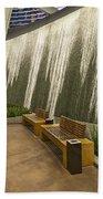 Water Wall - Aria Resort Las Vegas Beach Towel