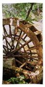 Water Wheel Beach Towel by Marty Koch