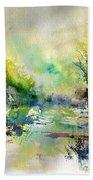 Watercolor 45319041 Beach Towel