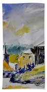 Watercolor Baillamont Beach Towel