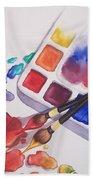 Watercolor Drops Beach Towel