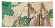 Watercolor Map 1 Beach Towel