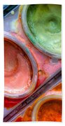 Watercolor Ovals One Beach Towel