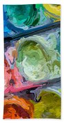 Watercolor Ovals Two Beach Towel
