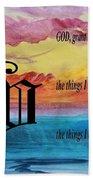 Watercolor V And Serenity Prayer Beach Towel