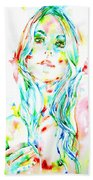 Watercolor Woman.1 Beach Towel