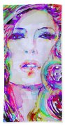 Watercolor Woman.32 Beach Towel