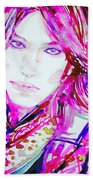 Watercolor Woman.33 Beach Towel