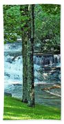Waterfall And Hammock In Summer 2 Beach Towel