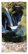 Waterfall And Rainbow 3 Beach Towel