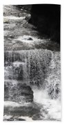 Waterfall And Rocks Beach Towel
