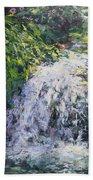 Waterfall At Chicago Botanic Gardens Beach Sheet