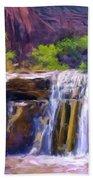 Waterfall At Coyote Creek Beach Towel