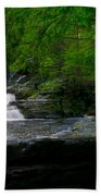 Waterfall At George W Childs Park Beach Towel