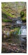 Waterfall At Parfrey's Glen Beach Sheet