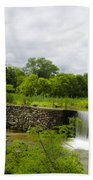 Waterfall At Valley Creek Near Valley Forge Beach Towel