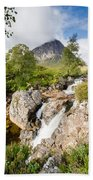 Waterfall Below Stob Dearg Beach Towel