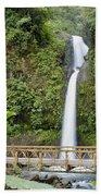 Waterfall Bridge Beach Towel