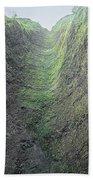 100453-waterfall Chute  Beach Towel