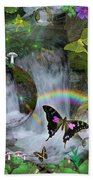 Waterfall Daydream Beach Towel by Alixandra Mullins