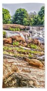 Waterfall In Contrast Beach Towel