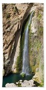 Waterfall In Ronda Beach Towel