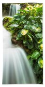 Waterfall In The Hosta Beach Towel