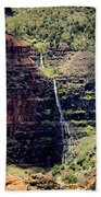 Waterfall In The Valley Beach Towel