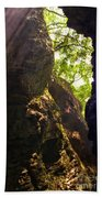 Waterfall Mountain Beach Towel