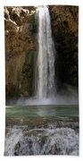 Waterfall Oasis Beach Towel