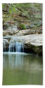 Waterfall On Piney Creek Beach Towel