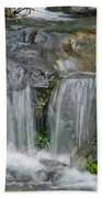 Waterfall On The Paradise River Beach Towel