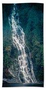 Waterfall Princess Louisa Inlet Beach Towel