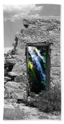Waterfall Through The Magic Door Beach Towel