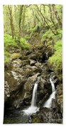 Waterfall Through Woodland Beach Towel