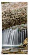 Waterfall Under Fallen Log Beach Sheet