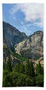 Waterfall, Yosemite Valley, Yosemite Beach Towel