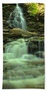 Waterfalling Through Ricketts Glen Beach Towel