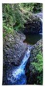 Waterfalls And Pools Maui Hawaii Beach Towel