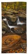 Waterfalls And Swirl Beach Towel