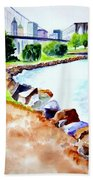Waterfront In Dumbo Beach Towel