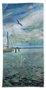 Waterfront View  Beach Towel