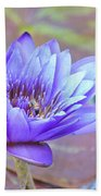 Waterlily And Bee Beach Towel