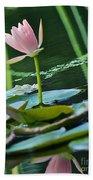 Waterlily Whimsy Beach Sheet